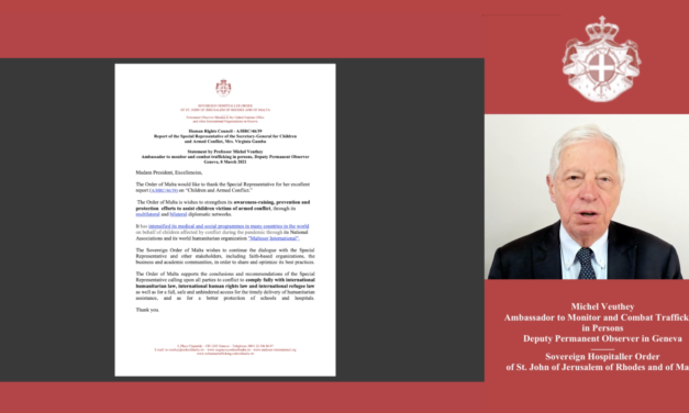 Statement by Professor Michel Veuthey 8 March 2021 — Human Rights Council — A/HRC/46/39 — Report for Children  and Armed Conflict, Mrs. Virginia Gamba