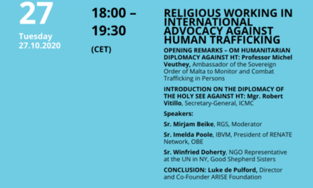 Religious Working In International Advocacy Against Human Trafficking