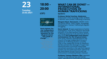 International Prosecution Of Human Trafficking — What can be done?