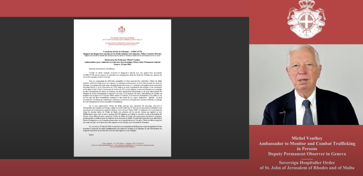 Human Rights Council — A/HRC/47/30 — Statement by Professor Michel Veuthey — Geneva, 24 June2021