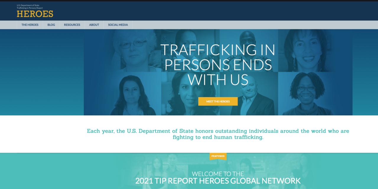 SR. IMELDA POOLE (Mary Ward Loreto (MWL) / RENATE) awarded U.S. Department of State Human Trafficking Heroes 2021