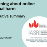 Learning about online sexual harm
