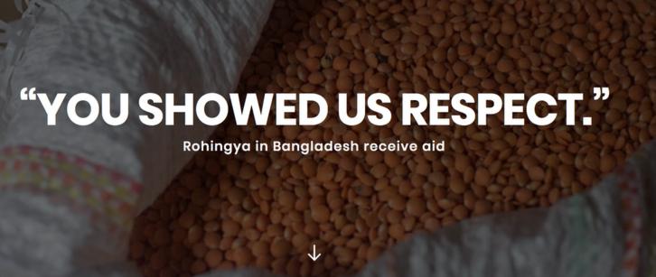 CARITAS- Rohingya in Bangladesh receive aid