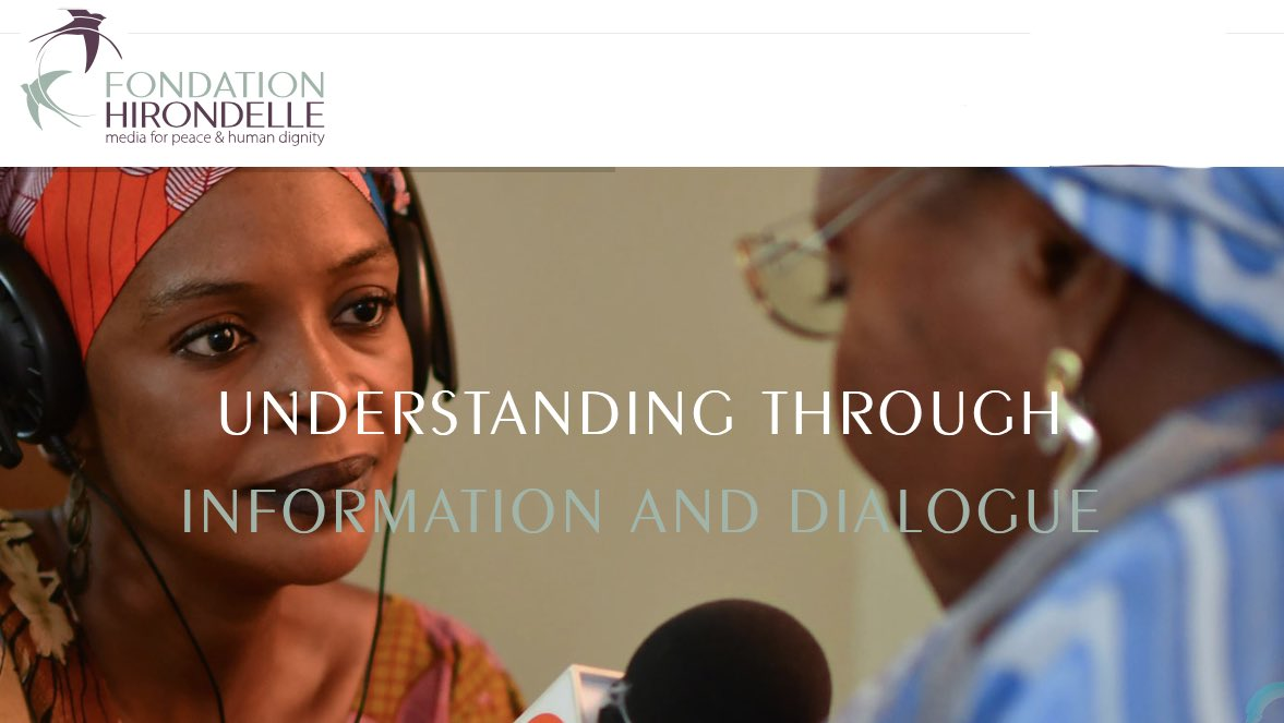 Fondation Hirondelle provides information to populations faced with crisis. Through our work, millions of people in war-affected countries, post-conflict areas have access tomedia