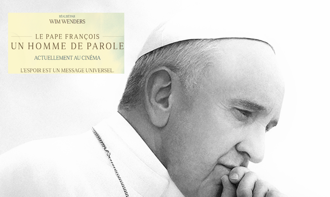 Pope Francis — A Man of His Word — HOPE IS A UNIVERSAL MESSAGE